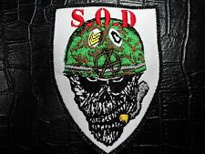 S.O.D.  EMBROIDERED PATCH
