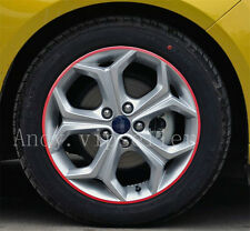 A Set Reflective Auto Wheel Hub Light Red Four-Wheel Decoration Sports Stickers