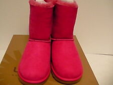 Women's ugg boots K bailey bow dark pink size 5 Youth new with box