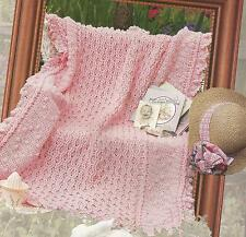 Crochet Pattern ~ GENTLE HEARTS BABY AFGHAN ~ Instructions