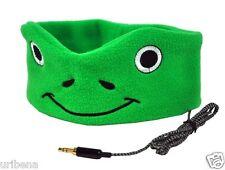 Kids Headphones Super Comfortable and Soft Fleece Headbands Cozy Green Froggy