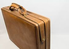 "Vintage Hartmann Brown Belting Leather Suitcase Luggage 18.5"" Excellent"