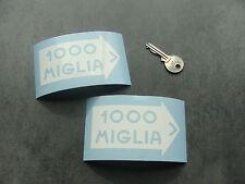 2x stickers auto 1000 miglia 10cm Blanc decal pegatinas aufkleber A249-010