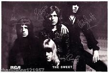The Sweet ++Autogramme++ ++POP Legenden 70er Jahre++