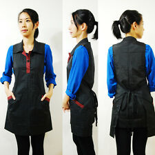 Hair Stylist Salon Wear Vest Shampoo Cape Smock Hairdresser Apron Black G-10