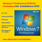 Microsoft Windows 7 Pro Professional 64 Bit Key + Installations - DVD