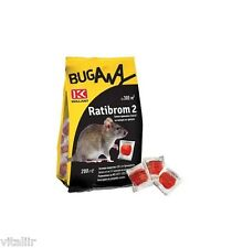 NEW RATIBROM® 2 Rat/Mouse Prof. Fresh Bait Paste Rodent Poison Koolant 2x200g!!!