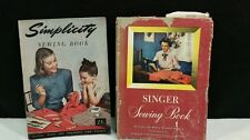 VINTAGE SINGER SEWING BOOK + SIMPLICITY SEWING BOOK.