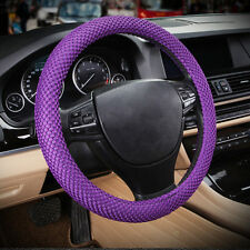 "Purple No smell 38cm 15"" 2015 Summer 3D Sandwich Eva Car Steering Wheel Cover"