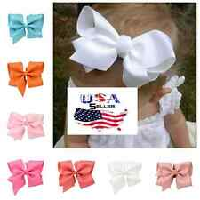 Lot of 20 Large Hair Bows Baby Toddler Girls 6 Inch Big Bows French Barrette