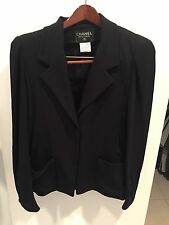 Chanel Vintage Black Jacket /Blazer NWOT size 44 Large