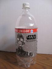 Pepsi One Empty 2 Liter Bottle / 1999 Star Wars Episode 1 - C-3PO