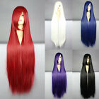 100cm Women Colorful Fashion Cosplay Long Straight Wigs Party Girl's Full Wig