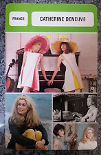 French César Award Winning Actress Catherine Deneuve French Film Trade Card