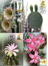 Ukraine 4v STAMPS 4 maximum cards cactus flora flower plants 2014 full set