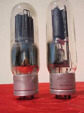 2 TUBE VT4C GENERAL ELECTRIC GE  = RCA RADIOTRON (211) TRIODE 19A3 CODE PAIR DHT