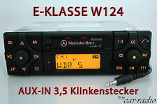 ORIGINALE Mercedes autoradio Audio 10 be3200 Aux-in mp3 w124 Classe E CARTUCCIA