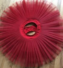 Professional Platter Ballet  Tutu C902 SA  Art Stone  Red  Adult Small W/Hoop
