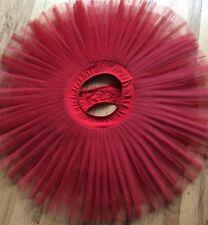 Professional Platter Ballet  Tutu C902 SA  Art Stone  Red  Adult Small W/Hoop