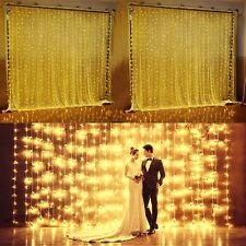 Wedding LED Lights Party Decoration Curtain Home Lighting 6M X3M 600 LIGHTS XMAS