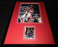 Kevin Willis Signed Framed 11x17 Photo Display Atlanta Hawks