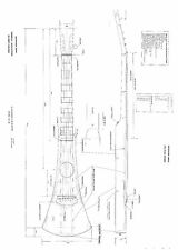 martin backpacker style acoustic Guitar Plans -  full scale detailed technical