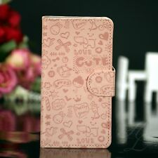 Samsung Galaxy S4 Flip Tasche Case Hülle Klapp Book Etui Comic Cover Rosa