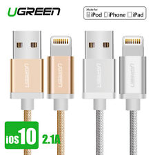Ugreen MFi Apple iPhone Charger Cable Strong Braided Data Sync Lead for iPhone 7