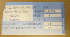 1987 MADONNA CLEVELAND CONCERT TICKET STUB WHO'S THAT GIRL TOUR LIKE A VIRGIN