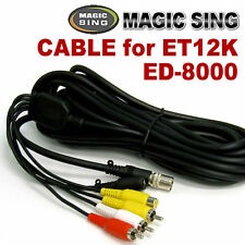 MAGIC SING Cable - RCA Cable for ET12K and ED-8000, 7 Pin Cable