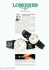 PUBLICITE ADVERTISING 056  1994  Longines montre la grande Classique