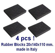 Universal Scissor Lift Pads - H20 - Ramp Rubber Blocks Made in Italy REAL RUBBER