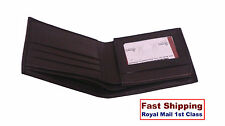 Men Luxury Soft Real Leather Wallet Flip ID Brown Credit Cards Cash Photo Holder