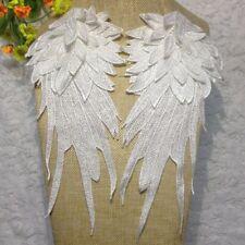 Pretty Embroidery Venise Lace Motif Shoulder Applique Patches Wings 1 Pair