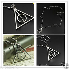 Harry Potter Deathly Hallows Alloy Necklace MIDDLE CIRCLE CAN SPIN fashion jewe