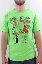 New VANS Mens Surf Kooks T Shirt Medium M Lime Green DR1