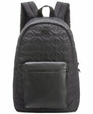$450 Giorgio Armani Men BLACK LEATHER Jet Set Backpack School Work Briefcase BAG