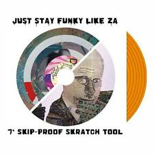 "Just stay Funky Like ZA 7"" Scratch Record Skipless Scratch Sample Vinyl Orange"