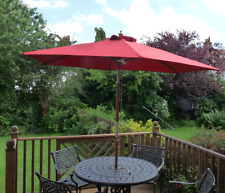 Replacement Deluxe 2.4m Parasol Cover Sienna Red 6 Strut Arm Fabric Canopy Cover