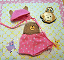 Kelly Krissy Friends Baby Clothes *Krissy Pink White Teddy Bear Jumpsuit Hat Toy