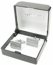 CUFF LINKS  MENS SILVER SHIRT CUFFLINKS PARTY WEDDING XMAS GIFT BOX NEW UK CK69
