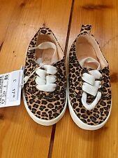Nuevo Zara Niña Bebé Estampado Leopardo Zapatos Talla 2 18 BNWT