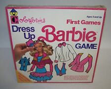Vintage 1990 Barbie Doll Dress Up Colorforms First Game Ages 3+ Sealed