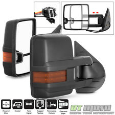 Left+Right 2007-2013 Chevy Silverado Sierra Tow Power+Heated+LED Signal Mirrors