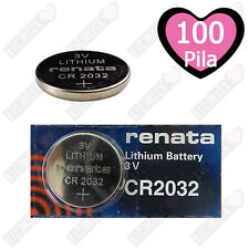 100x RENATA CR2032 Batteria LITIO a BOTTONE