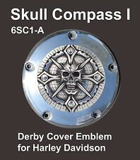 Zambini Bros - SKULL COMPASS I - Derby Cover Emblems