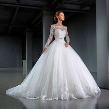 LONG SLEEVE APPLIQUÉ BALL GOWN WEDDING DRESS. BRIDAL GOWN. REGULAR/PLUS SIZE.