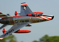 "1/8 Scale F-100D SUPER SABRE scratch build r/c Plane Plans & Instr 56""ws DUCTED"