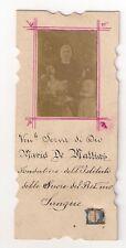 Holy card with relic 2nd class (ex indumentis) MARIA DE MATTIAS