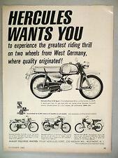 Hercules Prior K-50 Motorcycle PRINT AD - 1965 ~~ Scrambler